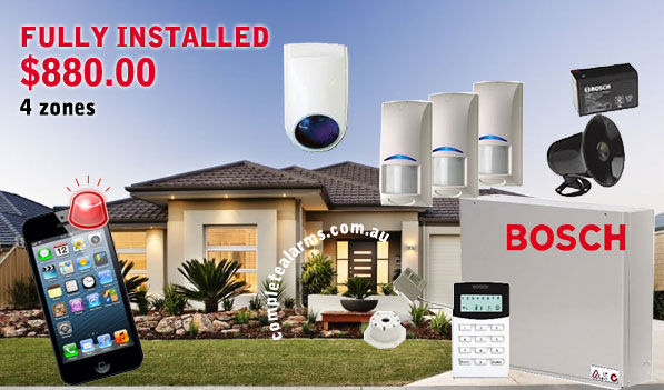 Alarm Pack 1 (4 Zones) U2013 Designed For Single Storey Homes U2013 $880 Fully  Installed Incl GST